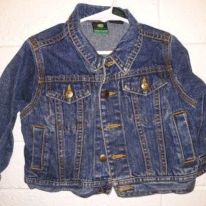 John Deere toddler denim jacket